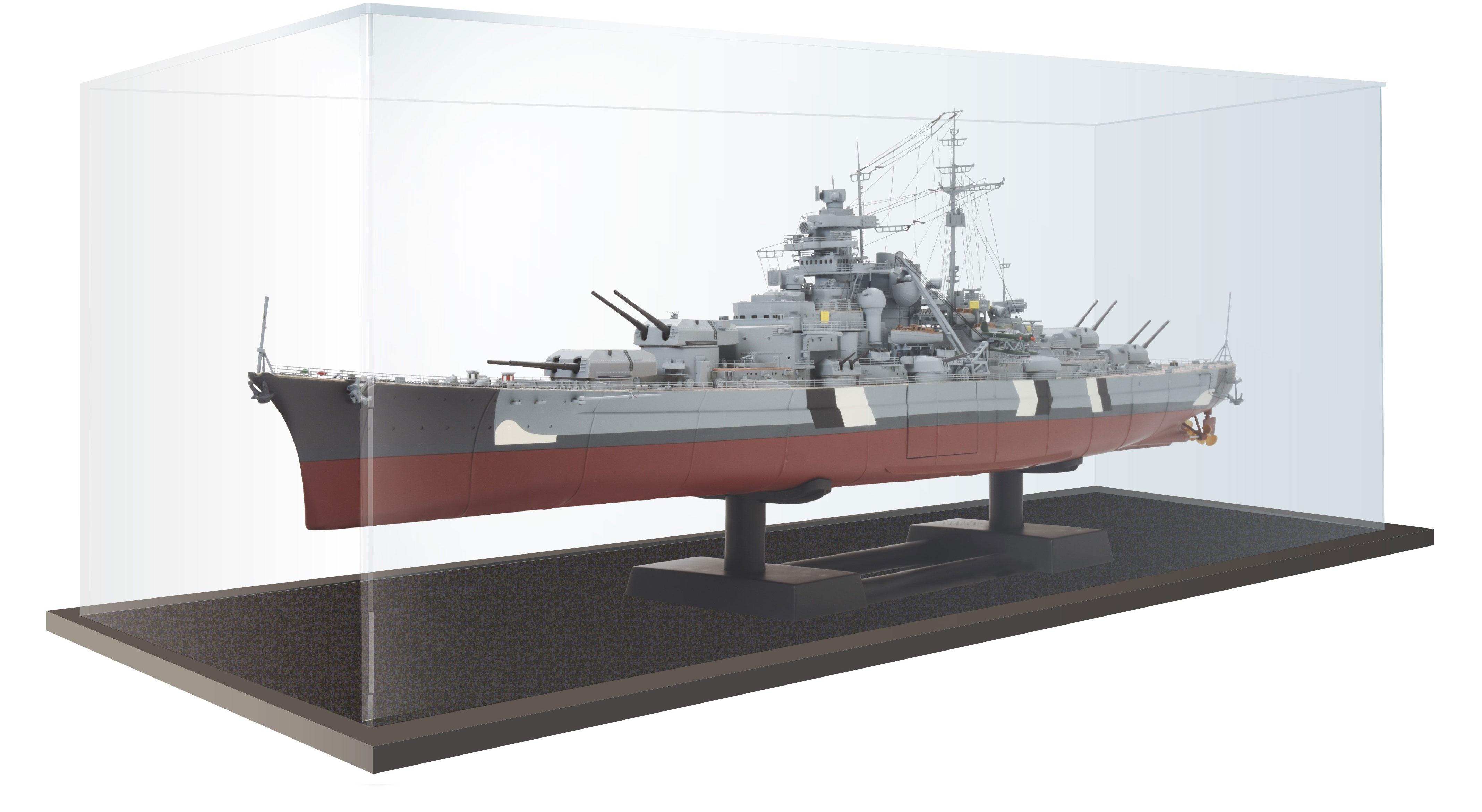 Schlachtschiff Bismarck – Vitrine aus Acrylglas